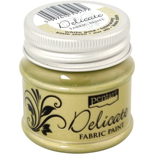 Delicate Fabric Paint 50ml-White Gold
