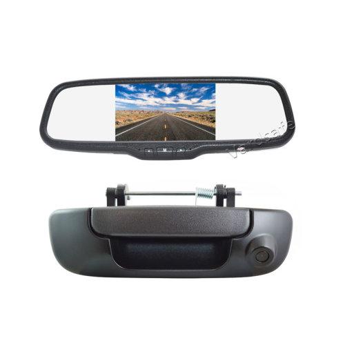 Vardsafe Tailgate Handle Reverse Backup Camera + Clip-on Mirror Monitor for Dodge Ram 1500 2500 3500 (2002-2008)