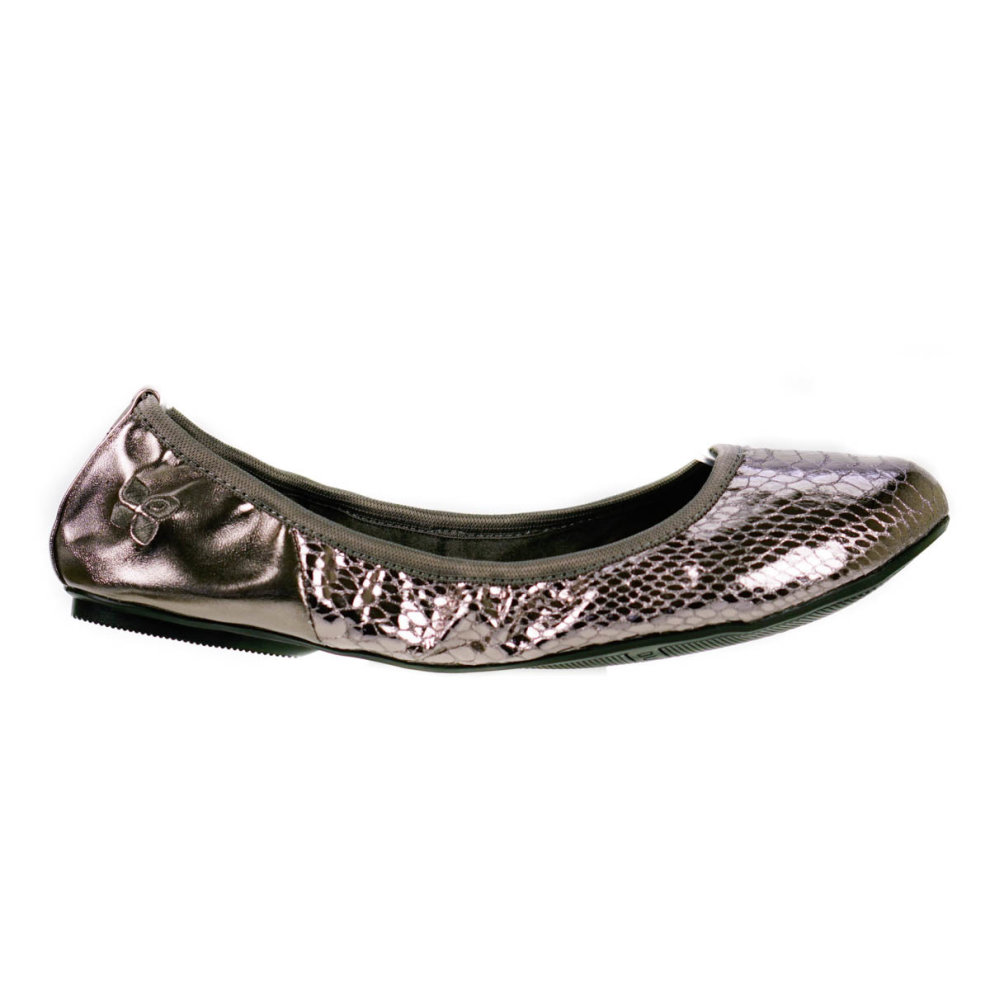 9ab649f79 ... Butterfly Twists Foldable Ladies Flat Shoes Silver - 3 ...