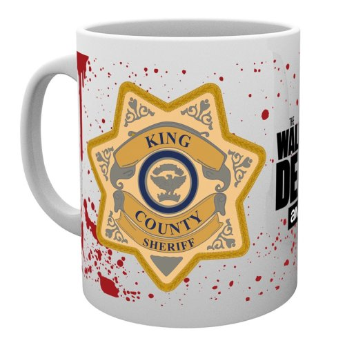 The Walking Dead Sheriff Badge Mug