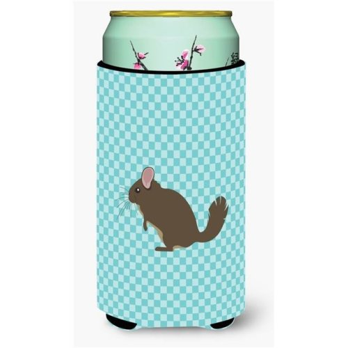 Carolines Treasures BB8049TBC Chinchilla Blue Check Tall Boy Beverage Insulator Hugger