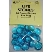 Blue Glass Gaming Stones 20ct