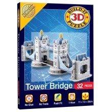 Mini Build Your Own 3d Puzzle Model Kit - Tower Bridge (32 Pieces)