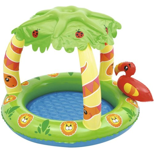 Bestway UV Careful Friendly Jungle Padding Pool Baby Swimming Centre 52179