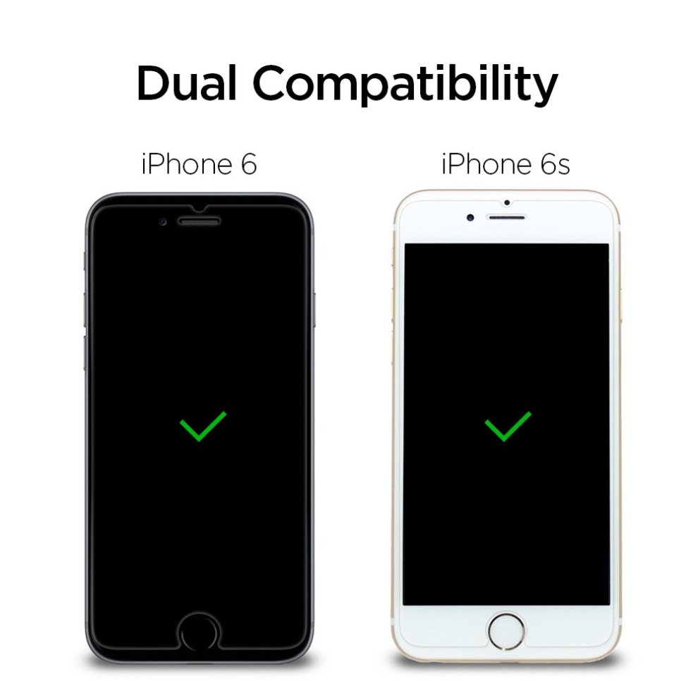 low priced 31cab 622a3 Spigen, 2 Pack, iPhone 6S / 6 Screen Protector, Easy Install Kit, iPhone 6S  Tempered Glass, 3D Touch Compatible, 4.7