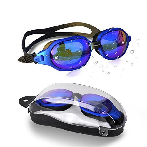 JFQ sunsine Swimming Goggles, Swim Goggles Anti Fog no Leaking UV protection Clear Vision Swimming Goggles Women Men Adult Youth