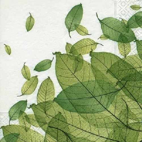 4 x Paper Napkins - Leaves - Ideal for Decoupage / Napkin Art