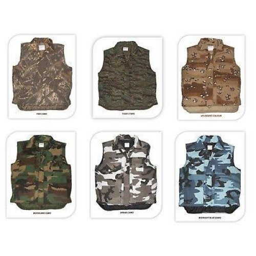 Multi Pocket Padded Body Warmer Vest