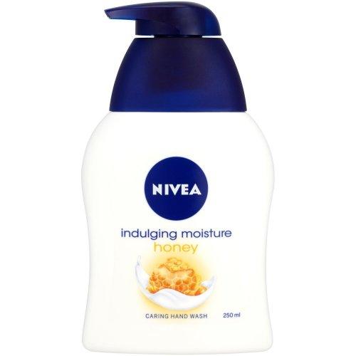 NIVEA Hand Wash, Rich Moisture Honey and Milk Soap, 250 ml, Pack of 6