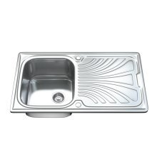 Dihl 1001 1.0 Single Bowl Stainless Steel Kitchen Sink, Drainer & Waste