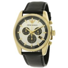 Emporio Armani Sportivo Leather Chronograph Mens Watch AR6006