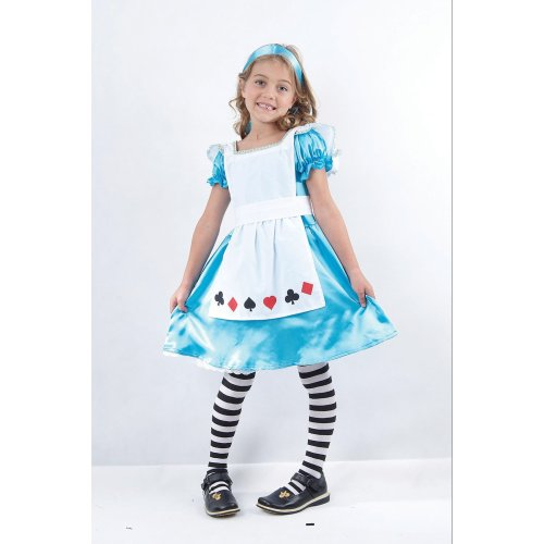 Kids' Alice Costume - Ages 4-6 | Children's Alice In Wonderland Fancy Dress