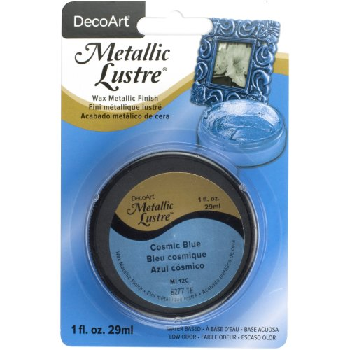 Metallic Lustre Wax Finish 1oz-Cosmic Blue
