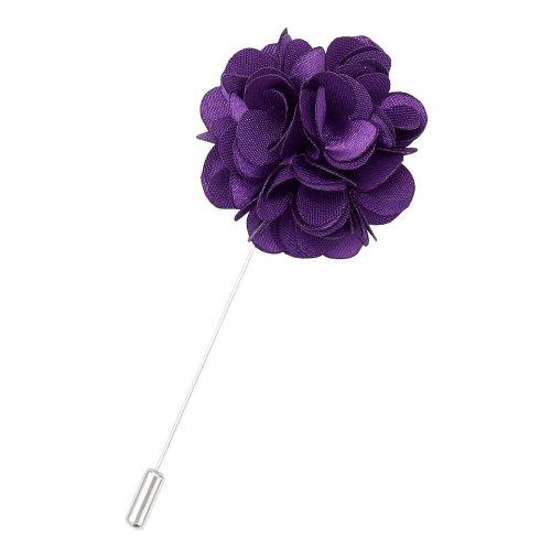 Cadbury Purple Plain Satin Lapel Pin