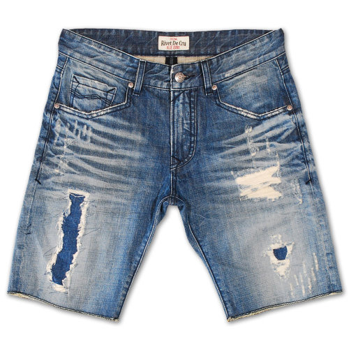 Rivet De Cru Polar Blue Denim Shorts