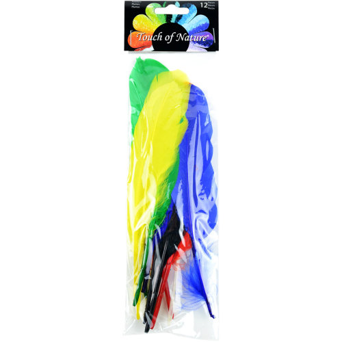 Indian Feathers 12/Pkg-Assorted Colors