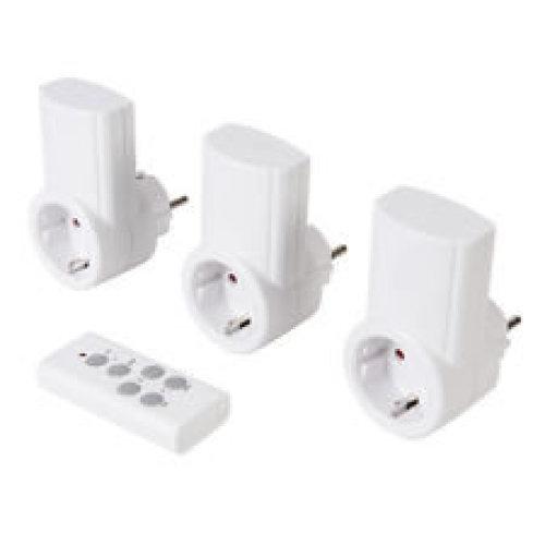 3pk Wireless Remote Control Power Socket - Master Eu 708429 -  power wireless remote control socket 3pk master eu 708429