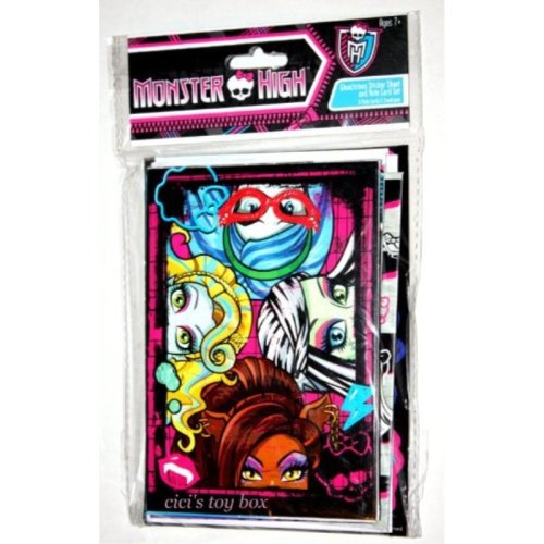 Monster High NOTE CARD & STICKERS SET