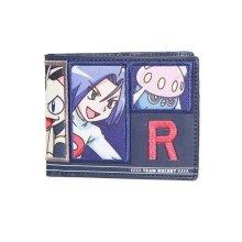 Pokemon Team Rocket Bi-Fold Wallet Coin Pouch Multi- Colour (MW290218POK)