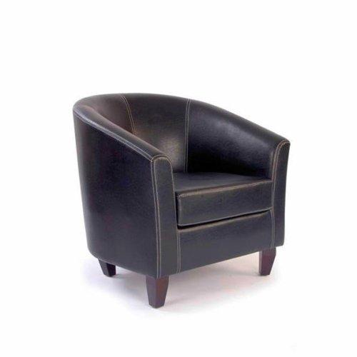 Barrett Leather Effect Single Seat Tub Dining Armchair