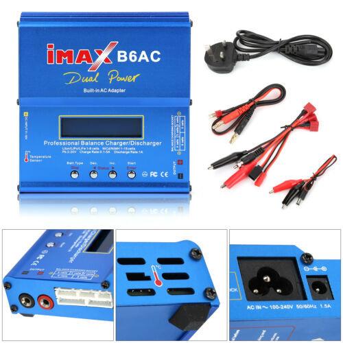IMAX B6 AC Lipo NiMH Polymer RC Battery Balance Charger Discharger LCD Digital