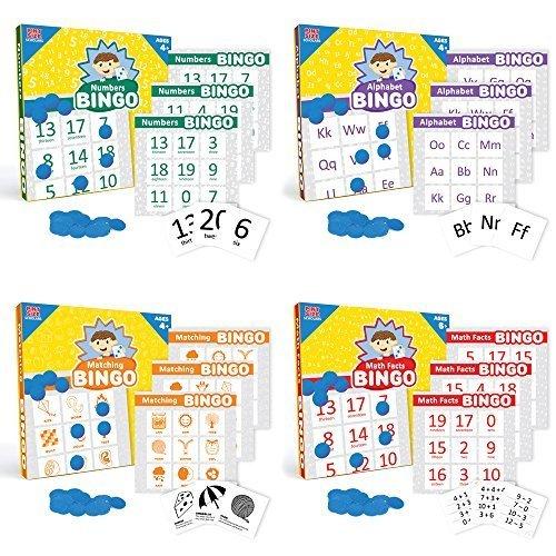 Big Bingo Bundle: Alphabet, Numbers, Matching, and Math Facts Bingo by Pint-Size Scholars