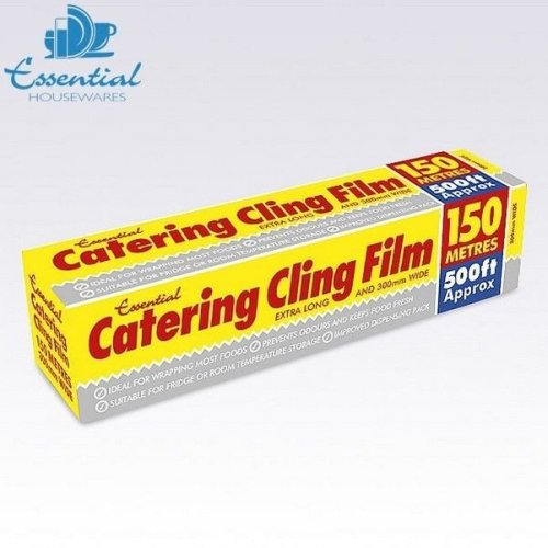 150 m Catering Kitchen Clear Cling Film Food Plastic Wrap Wrapping
