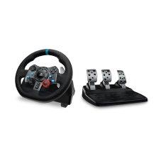 Logitech G29 Steering wheel + Pedals PC, PlayStation 4, Playstation 3 Black
