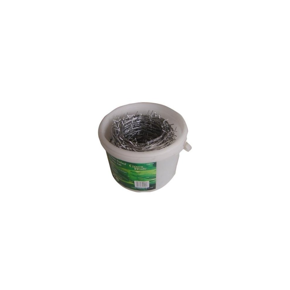 Green Blade Bb-cw121 30m x 1.7mm Galvanized Barbed Wire In Carry Tub ...