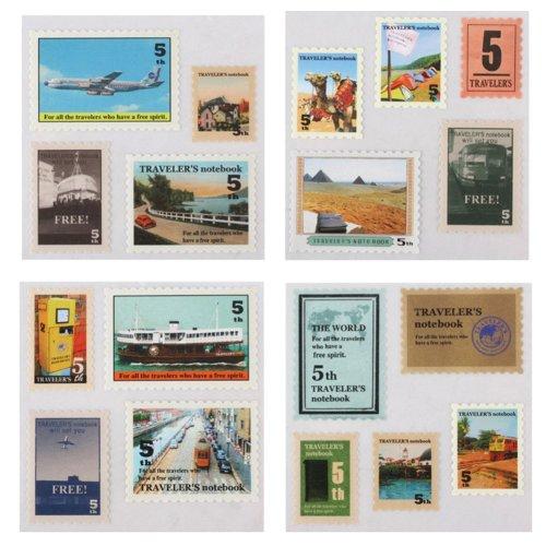 Set of 3 Sticker/Stamp Decoration/Diary Stickers/DIY Decoration(Vintage Stamp)