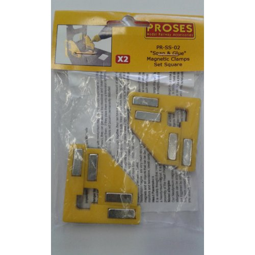 Snap&Glue Set Square (2 Magnetic Clamps/8 Magnets) - Proses PR-SS-02 - free post