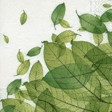 4 x Paper Napkins - Leaves - Ideal for Decoupage / Napkin Art