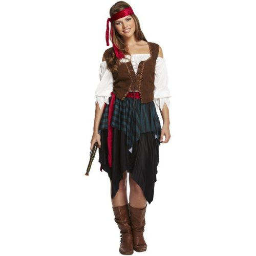 Women's Pirate Fancy Dress Costume | Women's Caribbean Pirate Costume