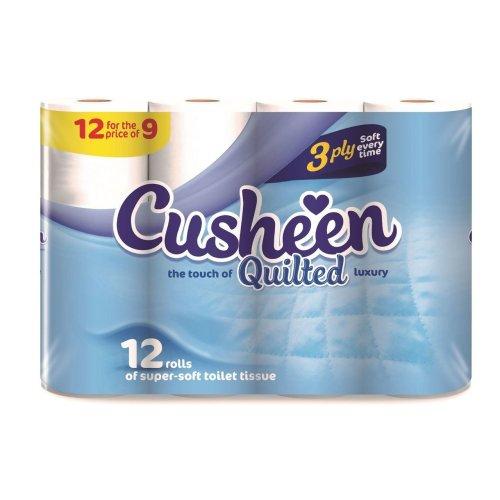 Vinsani 60 Cusheen Quilted Luxury 3 Ply Hygiene Toilet Tissue Paper Rolls
