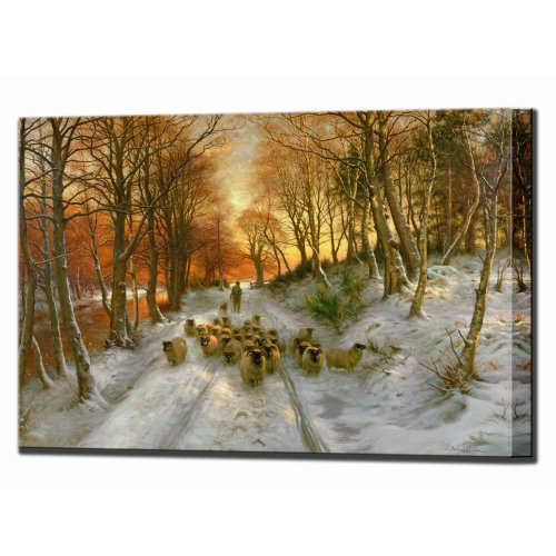 Joseph Farquharson Glowed with Tints of Evening Hours, Canvas Wall Art