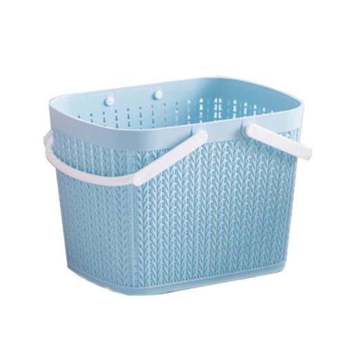 Bath Storage Basket Plastic Storage Basket with Handles #8