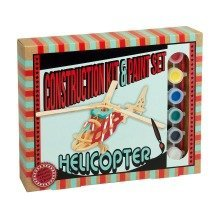 Helicopter Construction Kit and Paint Set