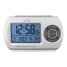 Acctim 71117 Denio Radio Controlled Alarm Clock, Silver