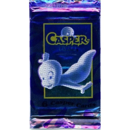 1 Package of 6 Casper Trading Cards 1995