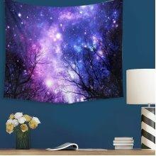 Galaxy Forest Mandala Tapestry Wall Hanging Throw Dorm Bedspread Yoga Mat Decor