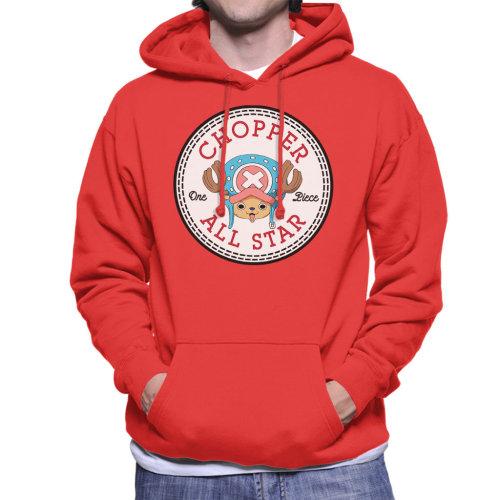 Tony Tony Chopper One Piece Converse All Star Men's Hooded Sweatshirt