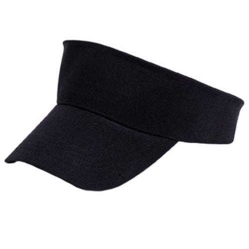 Outdoor Sports Visor Hat Sun Hat Adjustable Cap for Children/Students, Black