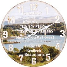 Angelsey Theme Wall Clock
