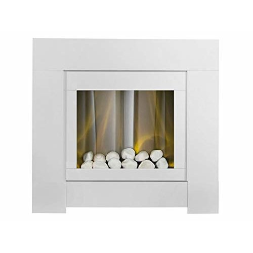 Groovy Adam Brooklyn Electric Fireplace Suite In Pure White 30 Inch Interior Design Ideas Inesswwsoteloinfo