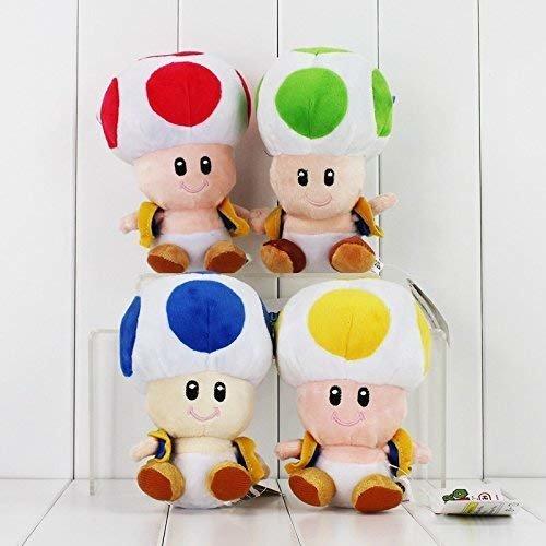 16cm 4 Styles Super Mario Plush Toy Toad Mushroom Stuffed Doll