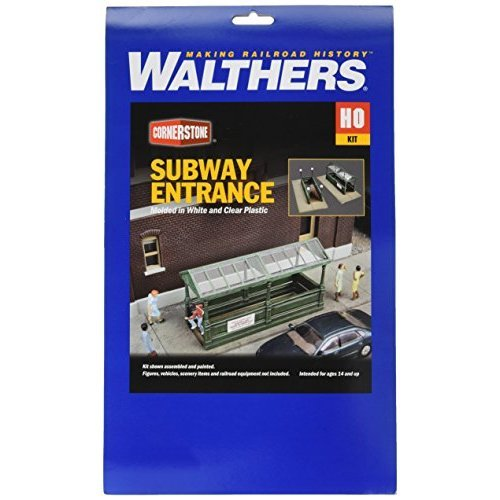 Walthers, Inc. Subway Entrance Kit with Builds 2 Complete Models