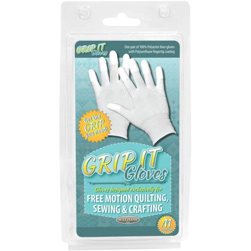 Sullivans Grip Gloves For Free Motion Quilting-Medium