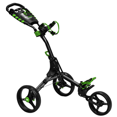 Easyglide Compact 3 Wheel Push Golf Trolley Charcoal/Green