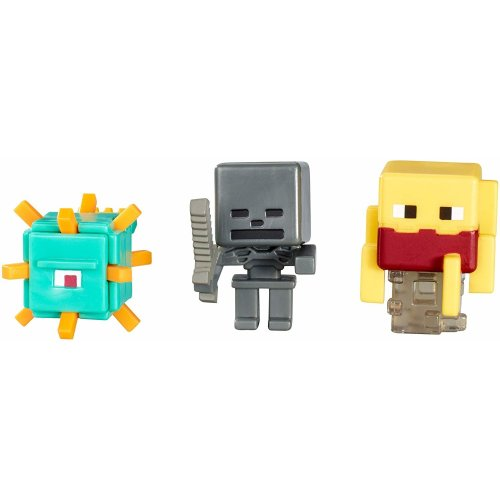 Minecraft Series 3 Minifigure 3 Pack - Blaze, Wither Skeleton & Guardian