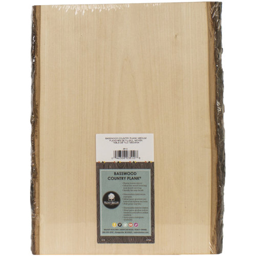 """Basswood Country Rectangle Plank-9"""" To 11""""X13"""""""